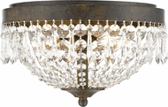 Z-Lite 431F3-GB Danza Golden Bronze Ceiling Light Fixture
