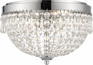 Z-Lite 431F4-CH Danza Chrome Ceiling Light Fixture