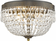 Z-Lite 431F4-GB Danza Golden Bronze Flush Lighting