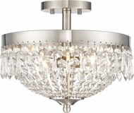 Z-Lite 431SF3-BN Danza Brushed Nickel Semi-Flush Ceiling Lighting