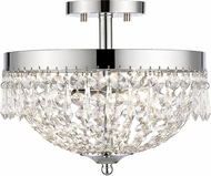 Z-Lite 431SF3-CH Danza Chrome Semi-Flush Ceiling Light