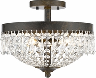 Z-Lite 431SF3-GB Danza Golden Bronze Semi-Flush Ceiling Light Fixture