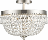Z-Lite 431SF4-BN Danza Brushed Nickel Semi-Flush Ceiling Lighting Fixture