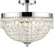 Z-Lite 431SF4-CH Danza Chrome Semi-Flush Ceiling Light Fixture