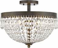 Z-Lite 431SF4-GB Danza Golden Bronze Semi-Flush Overhead Light Fixture