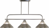 Z-Lite 437-3BN-RBN Annora Brushed Nickel Clear Ribbed Glass & Brushed Nickel Kitchen Island Lighting