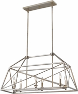 Z-Lite 447-36AS Tressle Modern Antique Silver Kitchen Island Light