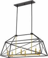 Z-Lite 447-36BZGD Tressle Contemporary Bronze Gold Island Light Fixture