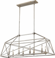 Z-Lite 447-44AS Tressle Modern Antique Silver Kitchen Island Light Fixture