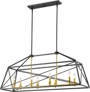 Z-Lite 447-44BZGD Tressle Contemporary Bronze Gold Island Lighting