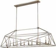 Z-Lite 447-56AS Tressle Modern Antique Silver Kitchen Island Lighting