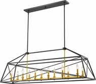 Z-Lite 447-56BZGD Tressle Contemporary Bronze Gold Kitchen Island Light