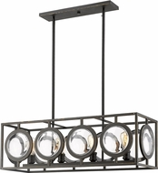 Z-Lite 448-34OB Port Contemporary Olde Bronze Kitchen Island Light Fixture