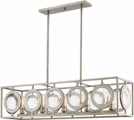 Z-Lite 448-44AS Port Modern Antique Silver Island Lighting
