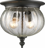 Z-Lite 516F-BK Belmont Traditional Black 9.75  Tall Outdoor Ceiling Lighting Fixture