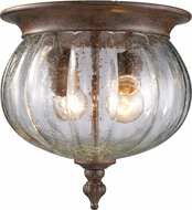 Z-Lite 516F-WB Belmont Traditional Weathered Bronze 10  Wide Exterior Ceiling Light Fixture