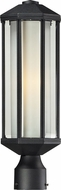Z-Lite 525PH-BK Cylex Black 6  Wide Exterior Lamp Post Light