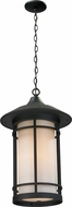 Z-Lite 527CHM-BK Woodland Black 8.125  Wide Exterior Pendant Light Fixture