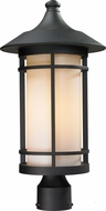 Z-Lite 527PHB-BK Woodland Black 20.625  Tall Outdoor Lamp Post Light Fixture