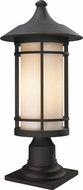 Z-Lite 528PHB-533PM-ORB Woodland Oil Rubbed Bronze 10  Wide Exterior Pier Mount