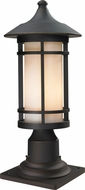 Z-Lite 528PHM-533PM-ORB Woodland Oil Rubbed Bronze 18.375  Tall Outdoor Pier Mount