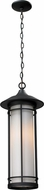 Z-Lite 529CHM-BK Woodland Black 8.125  Wide Exterior Pendant Hanging Light
