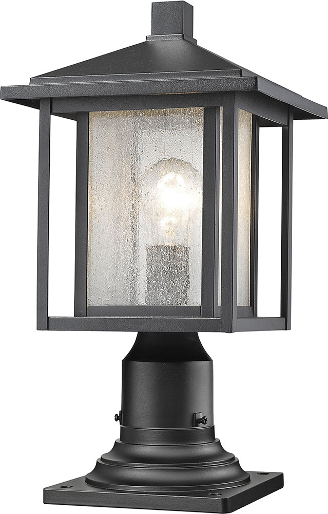 Z Lite 554phm 533pm Bk Aspen Black Exterior Lamp Post