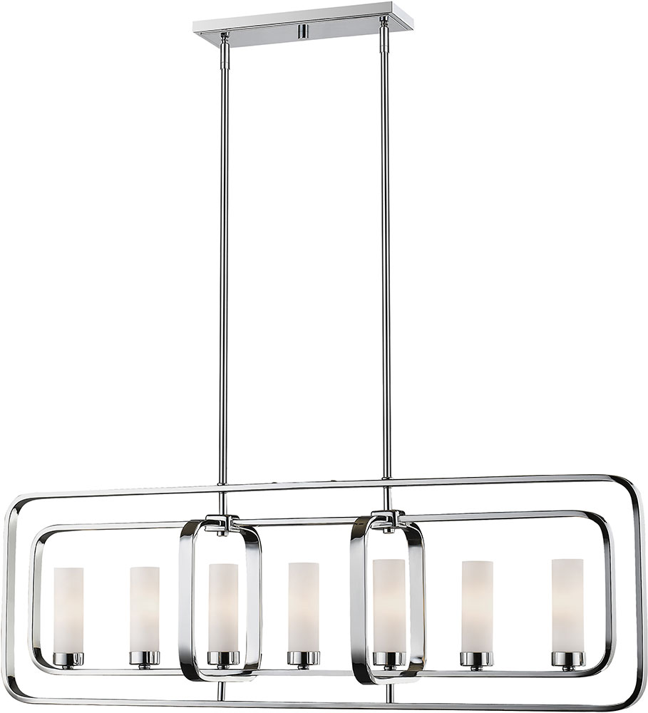Amity 5l Pendant Brushed Chrome: Z-Lite 6000-7L-CH Aideen Contemporary Chrome Kitchen