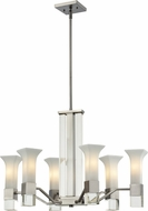 Z-Lite 610-6-BN Lotus Modern Brushed Nickel Mini Chandelier Light