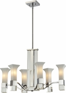 Z-Lite 611-6-CH Lotus Contemporary Chrome Mini Chandelier Lighting