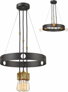 Z-Lite 8001-3BRZ Troubadour Contemporary Bronze Lighting Chandelier