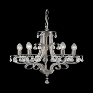 Z-Lite 849BN Pearl Traditional Brushed Nickel Mini Chandelier Lamp