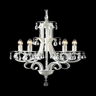 Z-Lite 849W Pearl Traditional White Mini Ceiling Chandelier