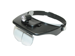 Headband Magnifier with Light