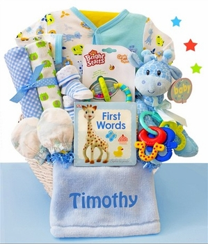 Shop over 140 personalized baby boy gifts here basket personalized negle Choice Image