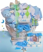 Elegant Beginnings Personalized Boy's Basket