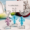 Glass Cross Place Card Holders