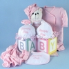 New Baby Girl All Cotton Layette Ensemble