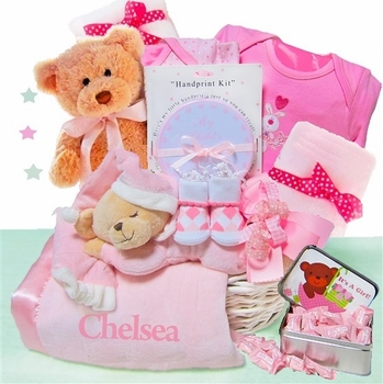 girls pink basket