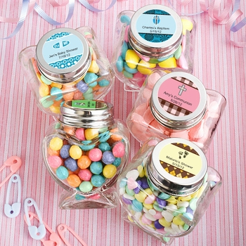 coed baby shower favors feature a unisex design making them befitting for any baby party or event a neutral departure from traditional pinks and blues