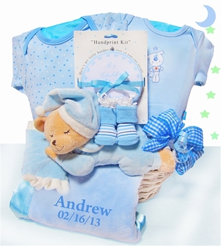 blue lamb basket