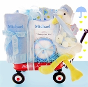 Special Stork Delivery Basket For Newborn Boy