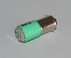 Green LED Bulb (28 Volt) Replaces 313 / 1829 (For Turn Signal Indicator), 12360890-3AG