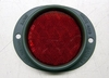Red Reflector, 3 Inch Lens, 383 Green Metal Frame, MS35387-1