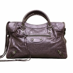 Balenciaga Purple Lambskin Leather Motorcycle Bag 115748