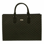 Black Gucci Jacquard Briefcase 190630