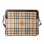 Burberry Haymarket Check Crossbody Messenger Bag