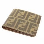 Fendi FF Logo Men's Bifold Wallet Tobacco Brown Leather 7M0135