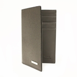 Fendi 7M0172 Fendi Gray Leather Men's Bifold Wallet
