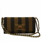 Fendi 8BT204 Zucca Claudia Pequin Small Shoulder Chain Bag